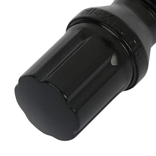 ECCPP 14x1.5 20 Pieces Black Wheel Lug Shank 26 mm fits for Audi Mercedes VW