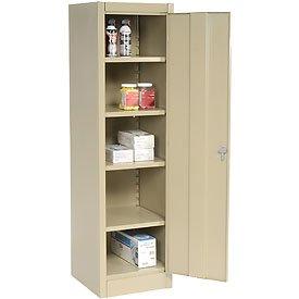 Amazon.com: Compact Storage Cabinet 18x18x66 Tan: Kitchen & Dining