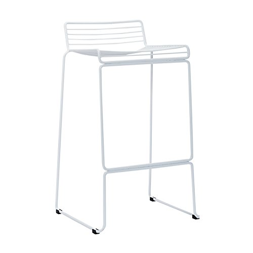 Creative Bar Stools, Iron Stools Lounge Stools / High Chair Stools ( Color : White ) by Xin-stool