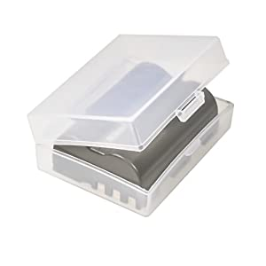 Foto&Tech Clear Medium Battery Storage Case/Organizer/Holder for Nikon