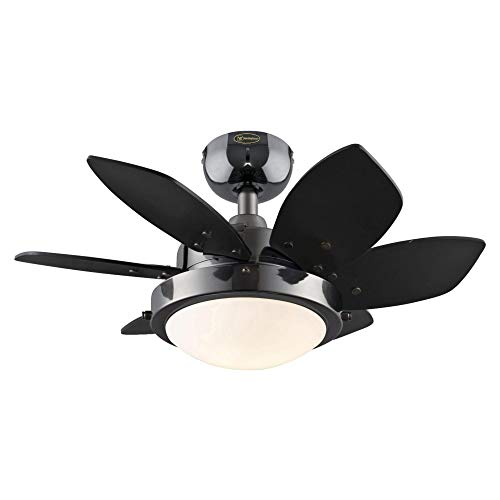 Westinghouse Lighting 7224600 Quince LED Ceiling Fan with Light, 24 Inch, Gun Metal