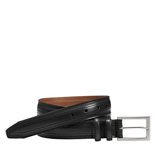 Johnston & Murphy Men's Double-Pinked Belt Black 34 US (And Belt Murphy Mens Johnston Buckle)