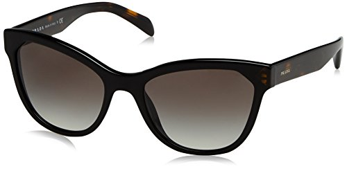Prada PR21SS 1AB0A7 Black / Tortoise PR21SS Cats Eyes Sunglasses Lens Category (Eye Glasses Frames Prada Cat)