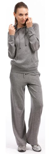 Lounge Pants - 100% Cashmere - by Citizen Cashmere (Large, Light Grey) by Citizen Cashmere (Image #1)