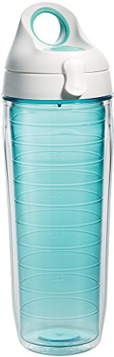 Tervis 1177166 Clear & Colorful, Coastal Green Tumbler and White with...