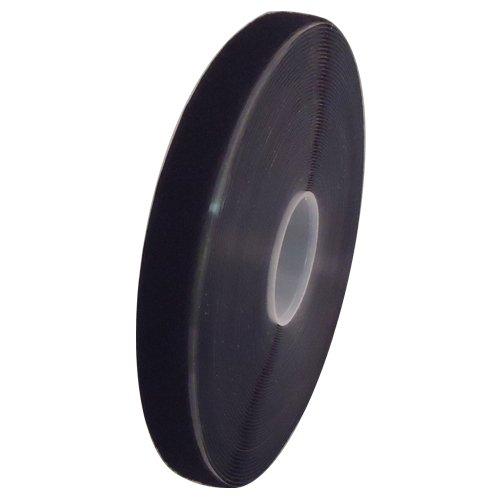 Hook and Loop Adhesive Back Tape (1'' x 25 yard, Black (Loop Side))