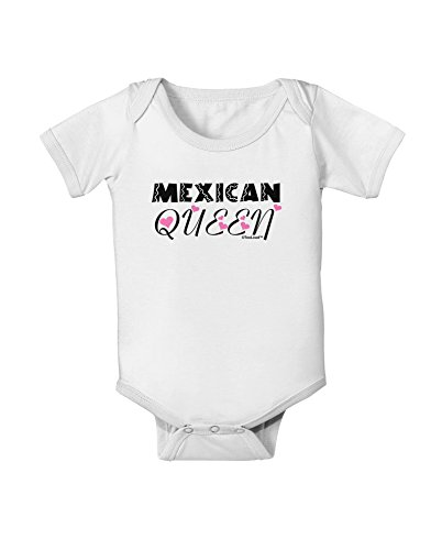 TooLoud Mexican Queen - Cinco de Mayo Baby Romper Bodysuit - White - 6 Months