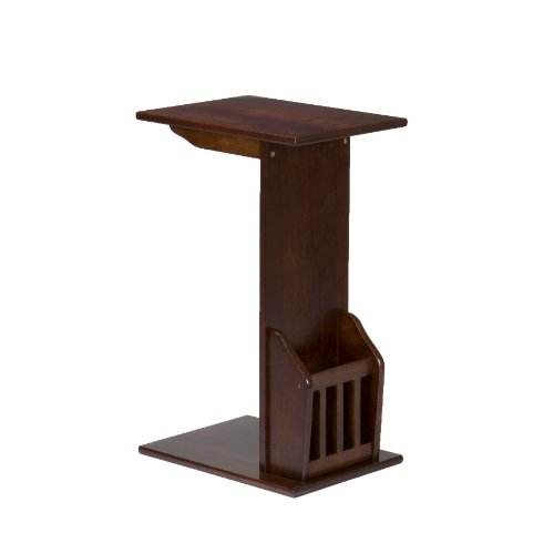Southern Enterprises Magazine Snack Table, Espresso Finish