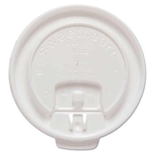 """Liftback & Lock Tab Cup Lids for Foam Cups, Fits 10 oz Trophy Cups, WE, 100/PK"""