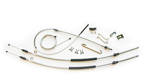 (B-1-2) Inline Tube Complete Parking Brake Cable Set in OE Steel Compatible with 68-72 Chevelle SS Turbo T400