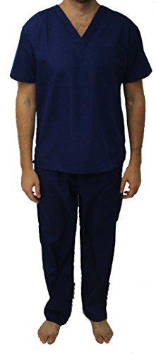 Medical Uniform Nursing Scrubs Hospital - 33300M-Navy-L Tropi Unisex Scrub Sets / Medical Scrubs / Nursing Scrubs