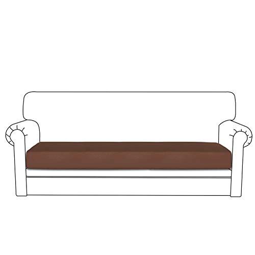 Easy-Going PU Leather Sofa Cushion Cover Sofa Seat Slipcover Sofa Cover Waterproof with Elastic Bottom Pets,Kids,Children,Dog(Oversized Sofa Cushion,Coffee)