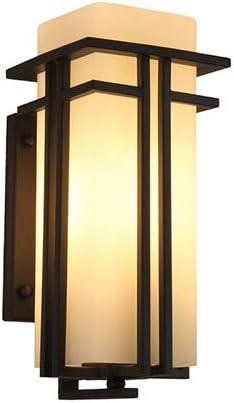 RSGK Lámpara De Pared Exterior China Impermeable Jardín Lámpara Exterior Puerta De La Pared De La Lámpara Villa Exterior Lámpara De Pared Al Aire Libre: Amazon.es: Hogar