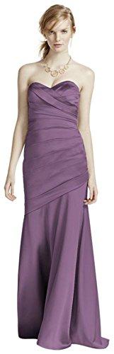 Long Strapless Stretch Satin Bridesmaid Dress Style F15586 – 20 Plus, Wisteria