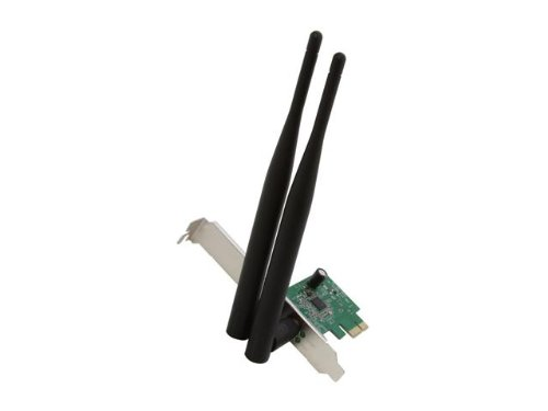 Rosewill Wireless N300 PCI-E WiFi Adapter, 300 Mbps (2.4 GHz) PCI Express Network Card for PC