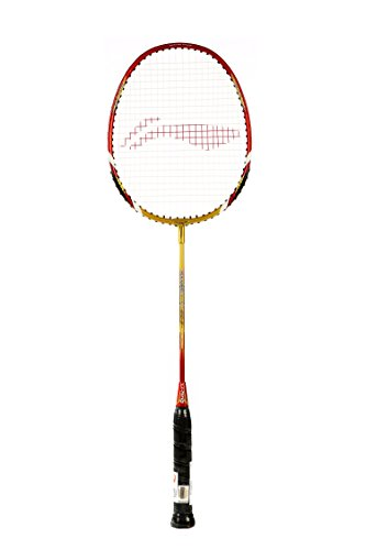 Li-Ning Smash Xp 90 Ii Carbon Fiber Badminton Racquet Golden/Red