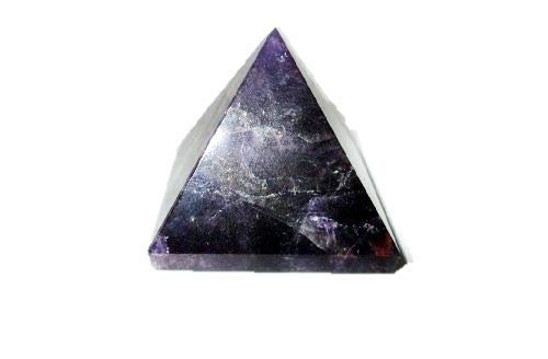 Jet Natural Amethyst Pyramid Approx. 1.25