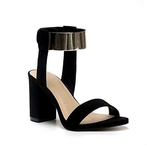Chaussures Dame Haute Kervinfendriyun À Sandales Sauvage Roma Yy4 La Noir Hauts La Talons D'Été ww4Eqv