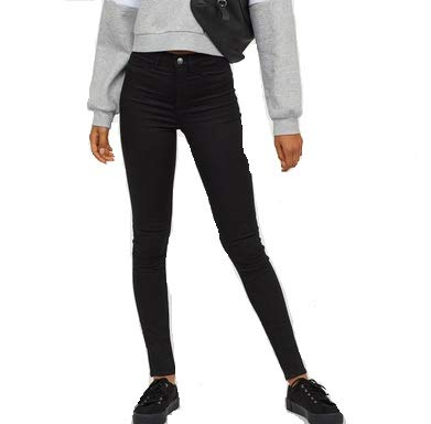 c657b53dd1330 alleydun Super Skinny High Jeans Black: Amazon.in: Clothing & Accessories
