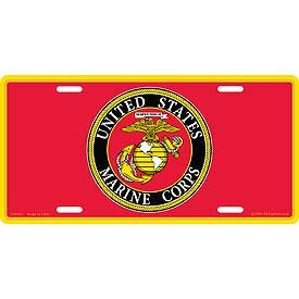 United States Corps Seal Marine (US Military Armed Forces License Plate - USMC U.S. Marines - United States Marine Corps Eagle & Anchor Seal Logo)