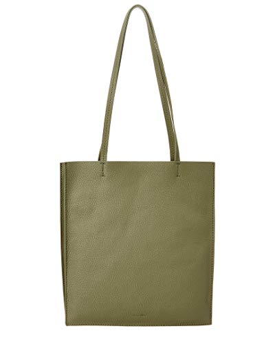 Steven Alan Maddox Accordion Gusset Leather Tote, Green