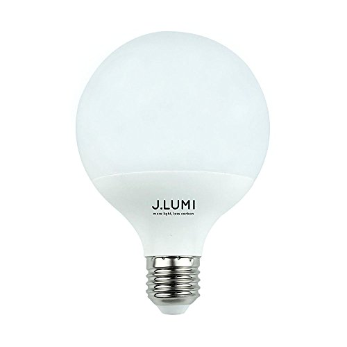 J.LUMI GPC9510 LED Light Bulb 12W, 95mm (3.75'') Diameter, Globe Shape, Kitchen Pendant Bulb, Floor Lamp Bulb, 100W Incandescent Equivalent, E26 Medium Base, 3000K Warm White, Not Dimmable by J.LUMI