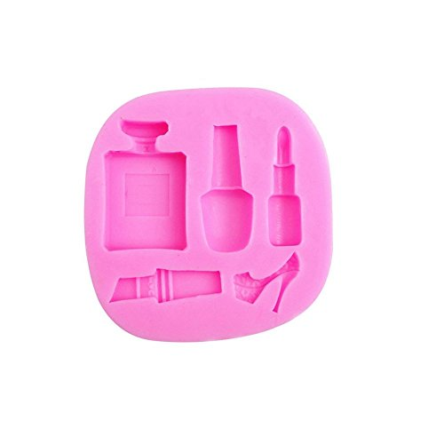 (Make-up, Dress Up, Nail polish, Lipstick and High Heels, Perfume, Decorating Silicone Mold - Custom Molds from Bakell)