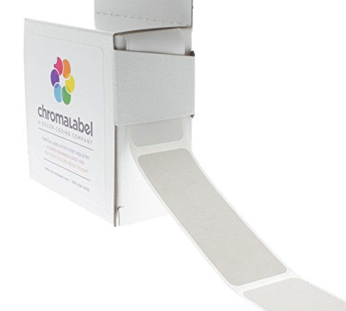 Rectangle Inventory Labels White (ChromaLabel 1 x 3 inch Color-Code Labels | 250/Dispenser Box (White))