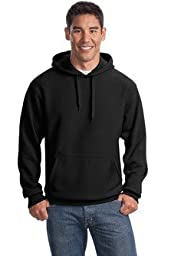 Sport-Tek Men\'s Super Heavyweight Pullover Hooded Sweatshirt 3XL Black