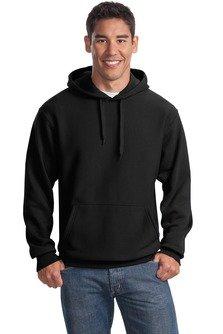 Sport-Tek Men's Super Heavyweight Pullover Hooded Sweatshirt XL Black from Sport-Tek