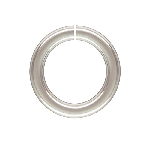 10mm Sterling Silver Round Open Twist Lock Jump Ring - Silver Open Twist