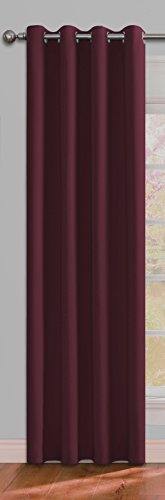 Ifblue Best Room Darkening Thermal Insulated Grommet Window Curtains -Blackout Curtains Drapes for Bedroom, Living Room, Kids Room-1 Panel 52 X 63 Inch, Burgundy