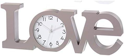 Home Line Reloj Love, Moderno/Original. Ideal para Salón ó Dormitorio. 39 x 3,70 x 14,60 CM.-Hogar y Mas- - Marrón