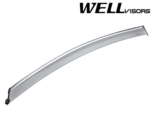 WellVisors Extreme Online Store Replacement for 2017-Present Chrysler Pacifica Chrome Trim Side Rain Guard Window Visors Deflectors Vents ExtremeEOS-3-847CY001
