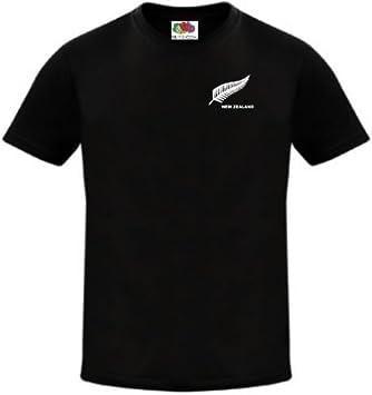 Zelanda Rugby Fútbol/fútbol/Cricket Nacional Equipo Camiseta Jersey: Amazon.es: Deportes y aire libre