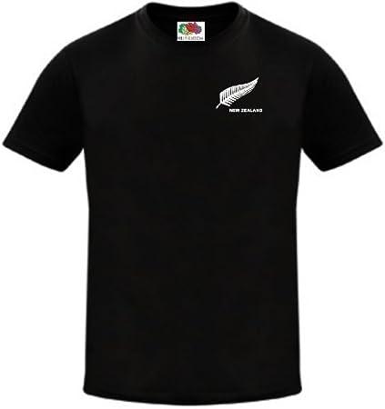 New Zealand Rugby Fútbol / Fútbol Nacional / Cricket Equipo Camiseta Jersey - Negro, Grande