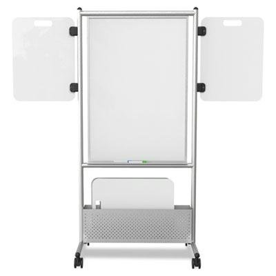 Best-Rite Expanding Mobile Whiteboard Nest Easel, Dura-Rite Dry Erase Surface, 2 Expanding Side Wing Panels Included (785E-HH-P2) by Best-Rite