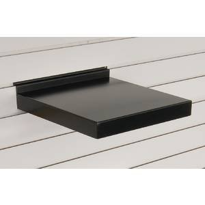 12 inch metal slatwall shelves black