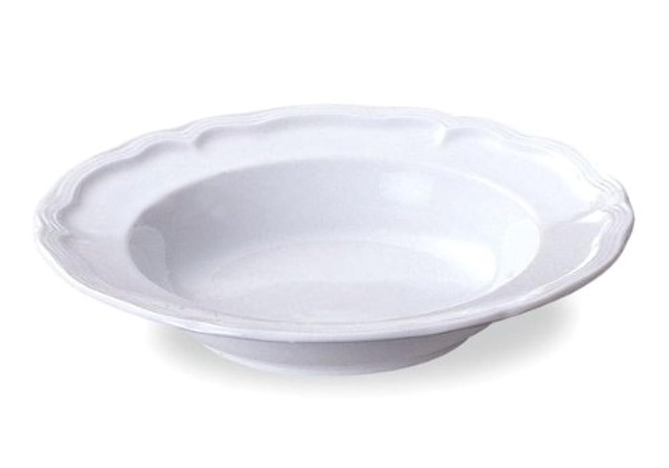 まつげ容疑者はぁスープ皿 深皿 24cmリムプレート ホワイト ルミネール 白磁 業務用食器 美濃焼
