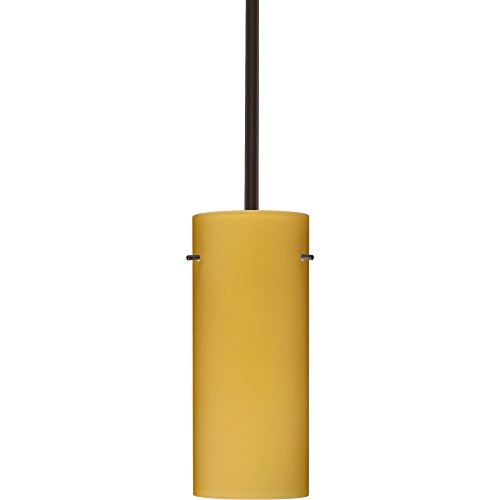 4123vm Led (Besa Lighting 1TT-4123VM-LED-BR 1X6W GU24 Stilo 10 LED Pendant with Vanilla Matte Glass, Bronze Finish)