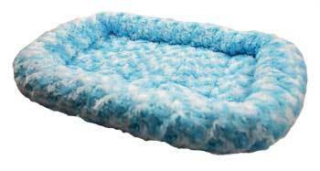 Pet Tek DPK89031 Dream Zone Series 1000 Fleece Dog and Cat Bed, 18 by 14-Inch, Blue