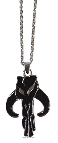 Star Wars MANDALORIAN Logo Metal/Enamel PENDANT with 20 -