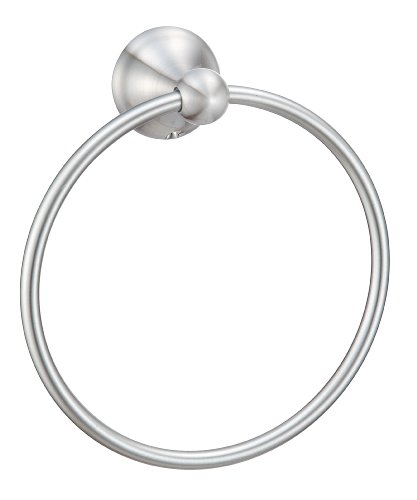 - Hardware House H10-9727 Newport Collection Towel Ring, Satin Nickel