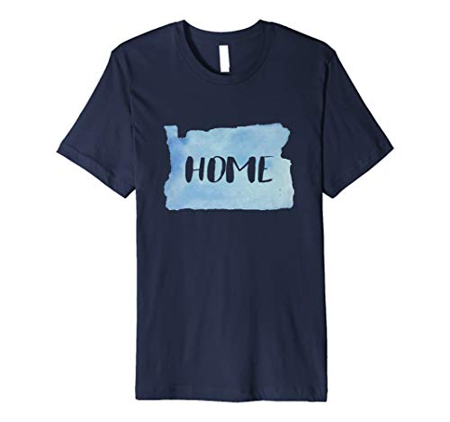 Love Oregon Home T-Shirt With Watercolor Design (Home Oregon)