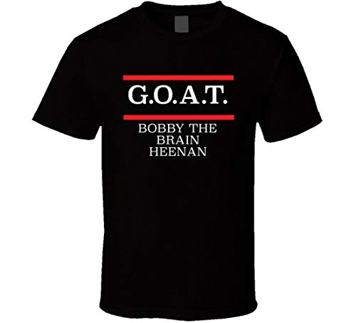 Goat Greatest of All Time Bobby The Brain Heenan Pro Wrestling Fan T Shirt Black (Best Pro Wrestling Matches Of All Time)