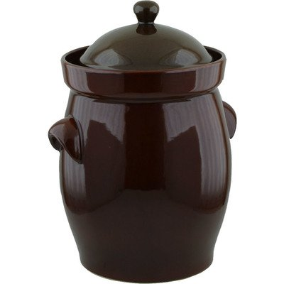 20L Fermenting Crock Pot (5.3 gal) Brown by Polmedia Polish Pottery