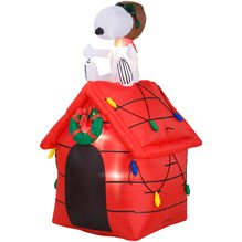 christmas peanuts snoopy red baron dog house 4 airblown inflatable