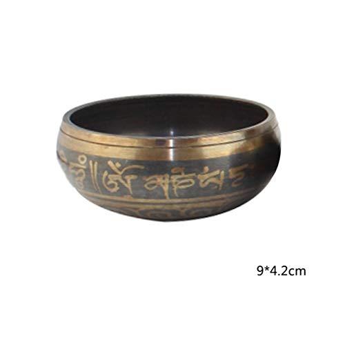 Bowls & Plates - Himalayan Hand Hammered Chakra Meditation Bowl Decorative Wall Dish Yoga Tibetan Buddhist Brass Singing - Arena Pipe Stadium Trough - 1PCs