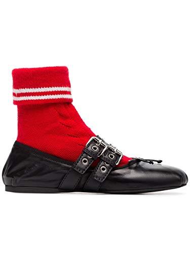 rojo Negro Miu Mujer Bailarinas Cuero 5f152cfb0053klqf0n98 tTwqBw1