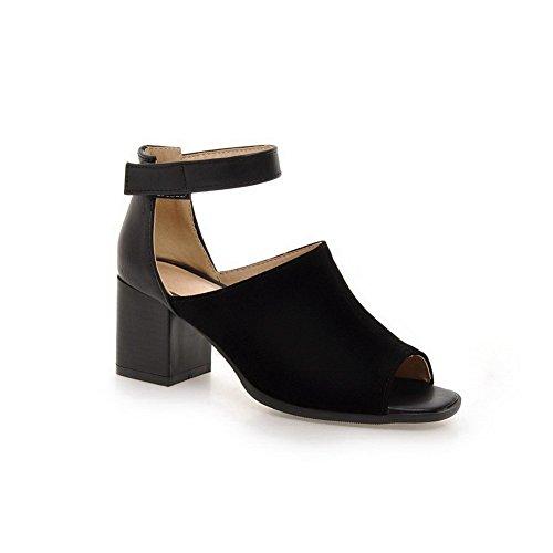 Patins plastique Noir en balamasa Mesdames talons sandales Chunky ZI0IYq